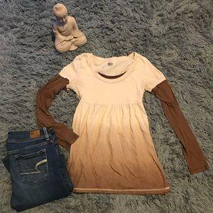 Brown and tan long sleeve.